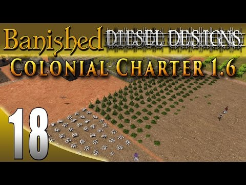 Banished Colonial Charter 1.6: EP18: Hemp, Cotton, and Silver Mine!  (City Building Series 60FPS)