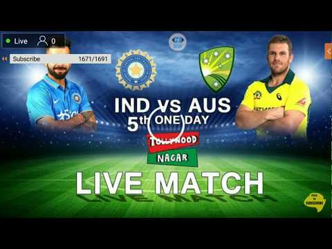 LIVE: INDIA VS AUSTRALIA 5ODI CRICKET MATCH LIVE VIDEO HOTSTAR