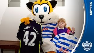 spark makes chloe s day i girl hit by yaya toure s shot returns to qpr