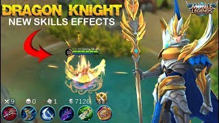Zilong Dragon Knight Skin New Skills Effects Fast Gameplay - Mobile Legends Patch 2.08