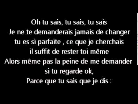 Just the way you are - Bruno Mars traduction
