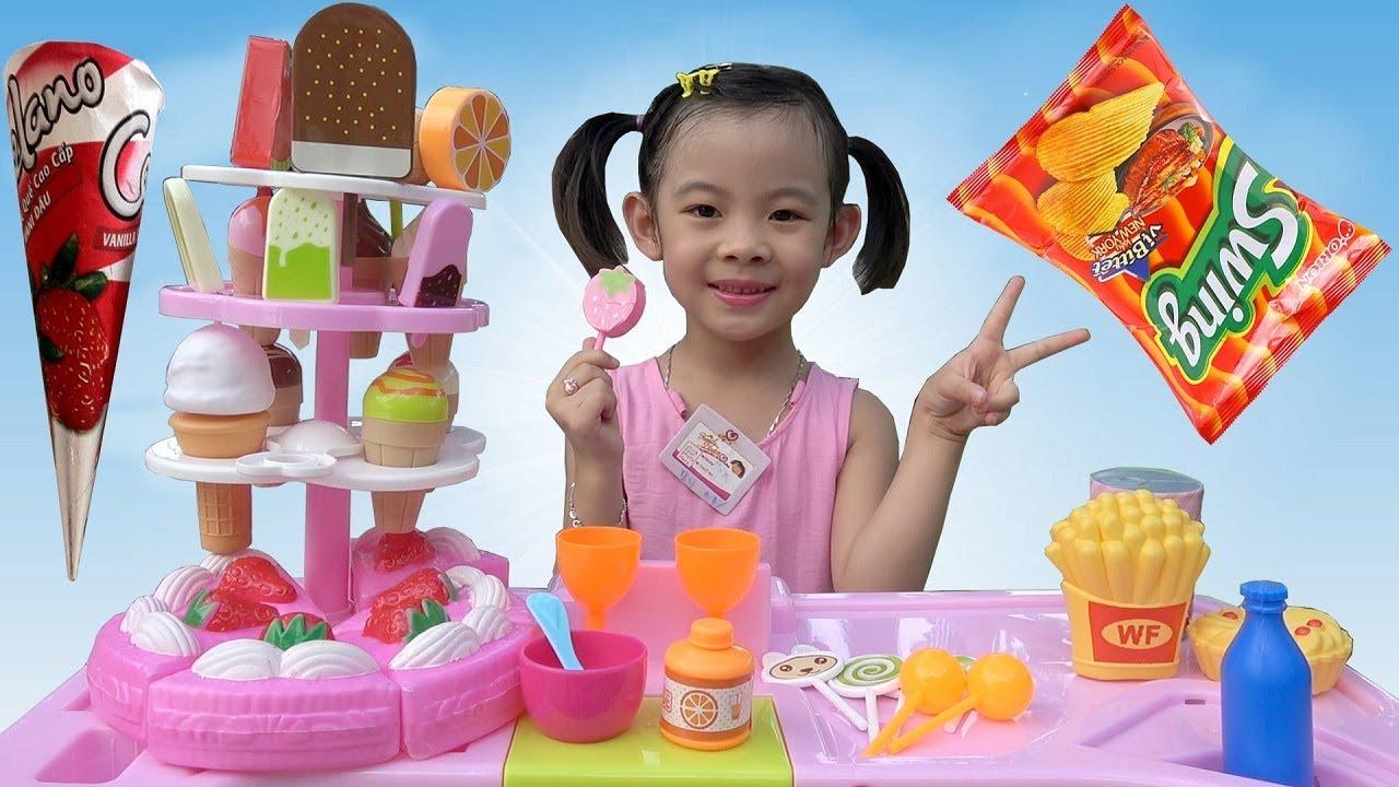 Trò Chơi Bán Hàng – Máy Tính Tiền Siêu Thị ❤ AnAn ToysReview TV ❤