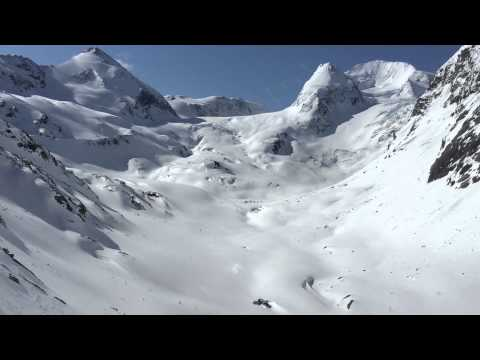 Stockdale Ski Tent Camp, Helicopter approach, Day 1, Alpine Club of Canada, April 2015