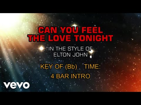 Elton John - Can You Feel The Love Tonight (Karaoke)