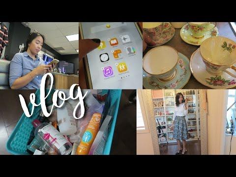 vlog | work ootds, vintage teacups, car problems