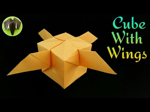 Inflated Cube with Wings - DIY Origami Tutorial by Paper Folds - 737