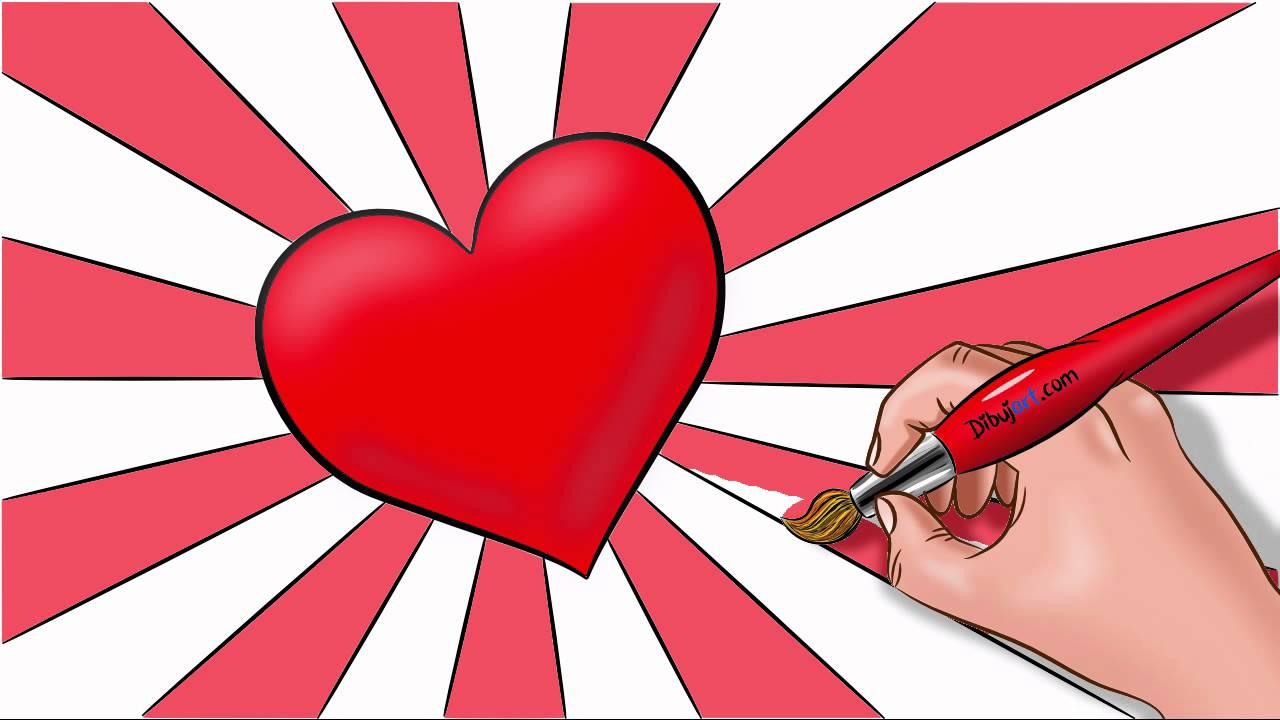 Como dibujar un corazon paso a paso con dibujartcom  YouTube