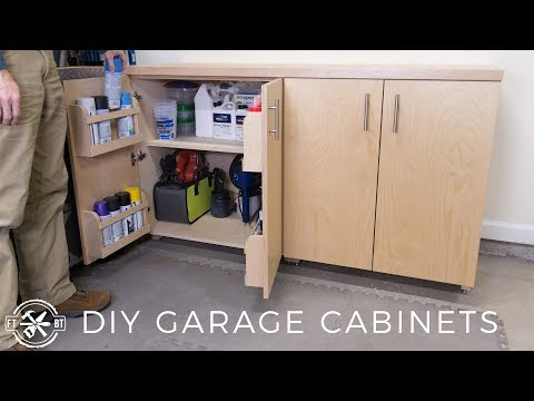 DIY Garage Cabinets for Shop Organization