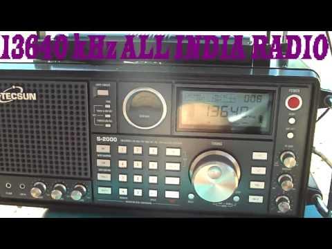 13640 kHz ALL INDIA RADIO , Bangalore , India
