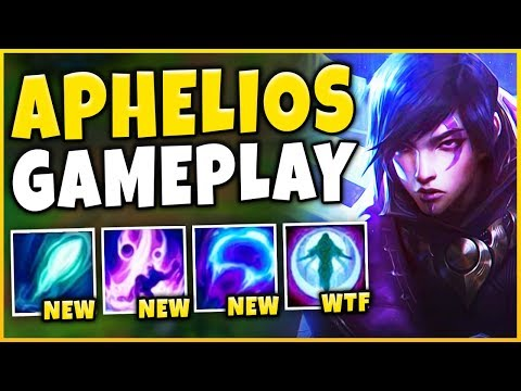 *APHELIOS GAMEPLAY* THIS CHAMPION IS INSANELY BROKEN (INFINITE SPELLS) - League of Legends