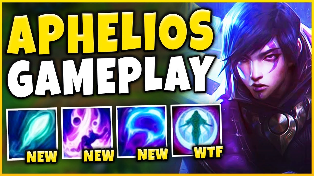 *APHELIOS GAMEPLAY* THIS CHAMPION IS INSANELY BROKEN (INFINITE SPELLS) - League of Legends thumbnail