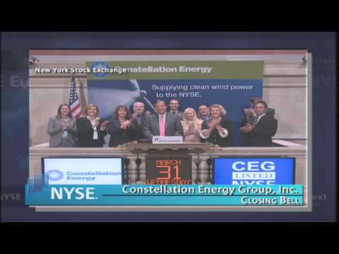 31 March 2010 Constellation Energy Group, Inc. NYSE Euronext Closing Bell