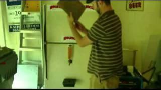 Kegerator Diy Reface / Customized With Tile. Refrigerator Keg Cooler