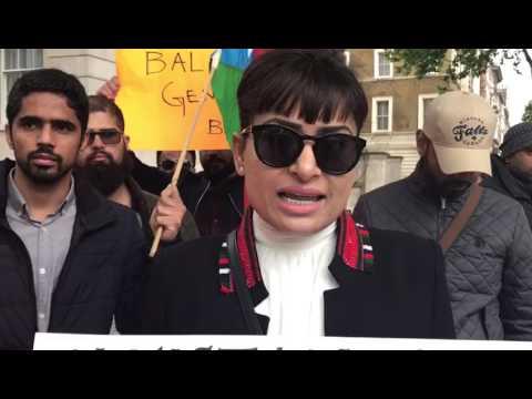 Baloch activists Mahdeem Baloch's speech on war crimes by Pakistani army in Balochistan
