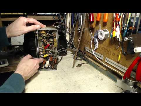 General Electric C100 Vacuum Tube AM Radio Video #1 - Checkout and Powered Test