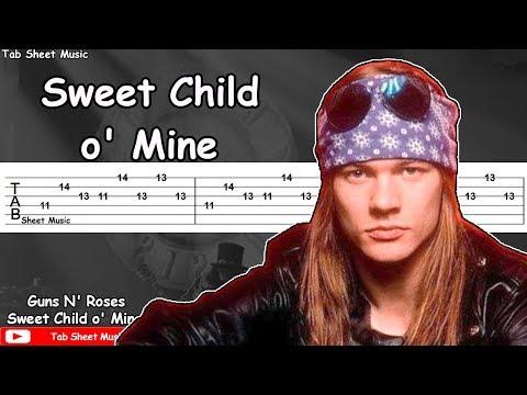 Guns N' Roses - Sweet Child O' Mine Guitar Tutorial