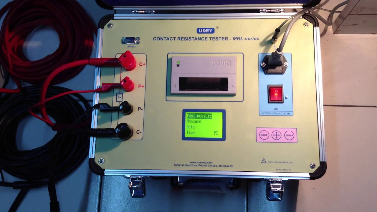 Contact Resistance Meter 100 Amps Dc Youtube