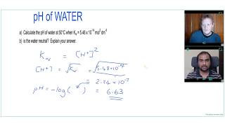 IS the pH of PURE WATER always 7? pH of water calculation | A Level Chemistry Tutor