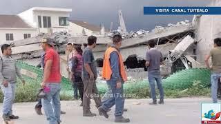 Se derrumba construcción en Cumbres del Sol; hay 2 muertos y personas atrapadas