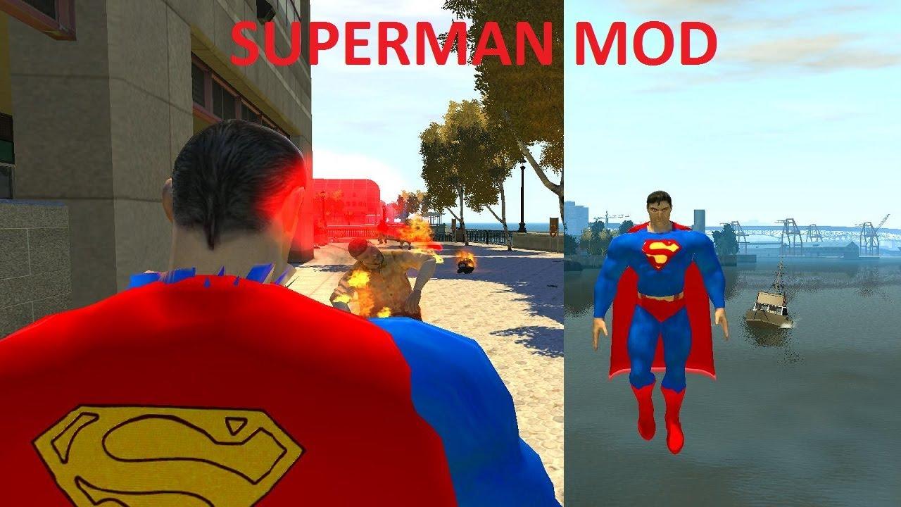 Скачать мод на gta iv супермен скрипт