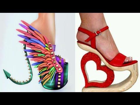 Najdziwniejsze buty świata part I - Top 100 dziwnych szpilek damskich // Weird high heels