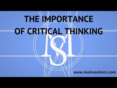 the importance of critical thinking in Businesses are aware that the need for creative and critical thinking is essential to their success this lesson explains creative and critical.