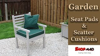 Water Proof Garden Seat Pads And Scatter Cushions/outdoor