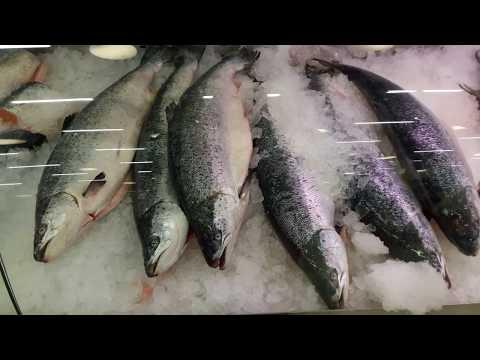 Цены в рыбном магазине Disas Fish. Лаппеенранта. Финляндия. 2017