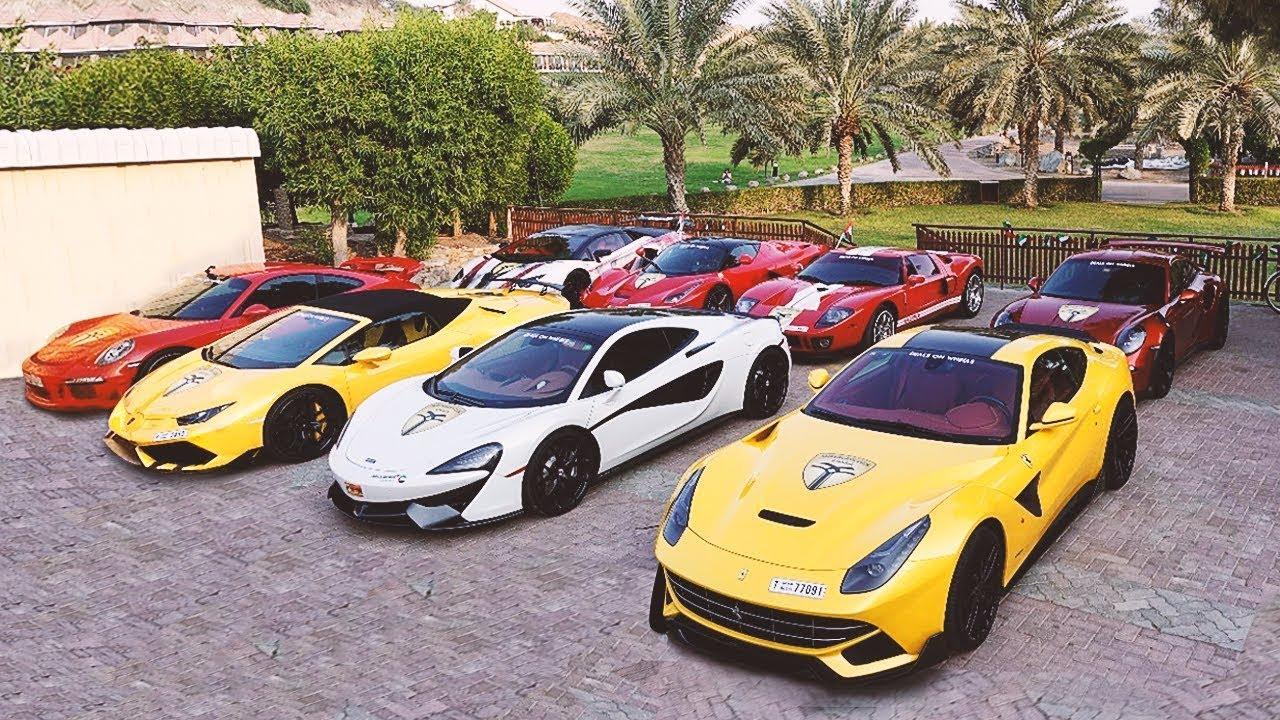 Super Autos De Lujo En Dubai Concentracion De Millonarios 100 Cochazos Youtube
