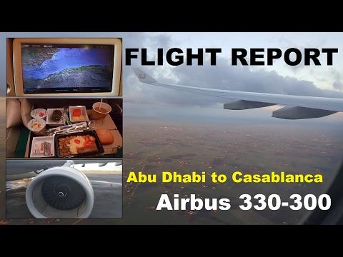 Flight Report | ETIHAD AIRWAYS | Airbus 330-300 | Abu Dhabi to Casablanca |