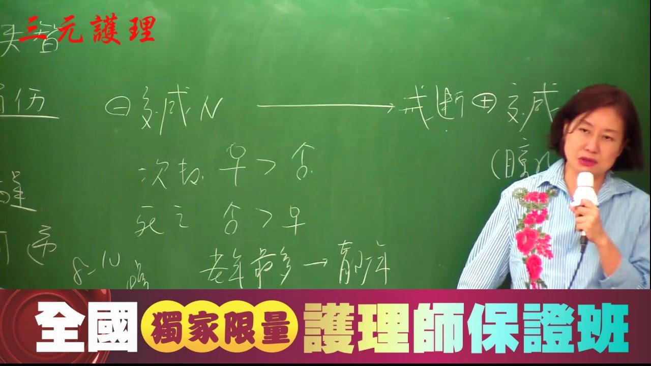 106年7月專技護理師-精神精闢解析-凌荃老師-下集 - YouTube