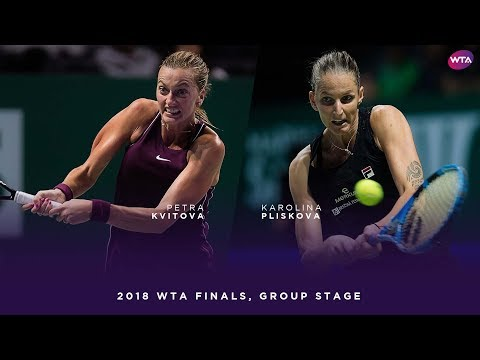 Petra Kvitova vs. Karolina Pliskova | 2018 WTA Finals Singapore Round Robin | WTA Highlights