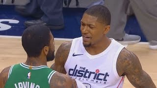 Kyrie Irving Exchanges Words with Bradley Beal After Being Confronted! Celtics vs Wizards