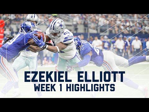 Ezekiel Elliott Highlights   Giants vs. Cowboys   NFL Week 1 Player Highlights
