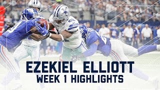 Ezekiel Elliott Highlights | Giants vs. Cowboys | NFL Week 1 Player Highlights