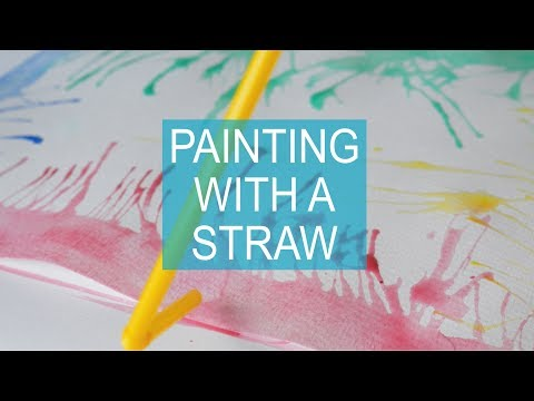How to Blow Paint: Art Projects for Kids