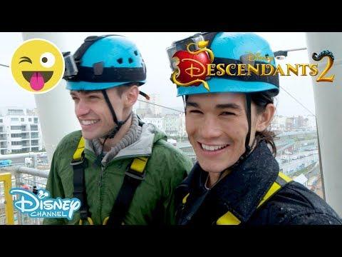 Descendants 2  Thomas Doherty & Booboo Stewart  Ride Challenge🎢 3   Disney Channel UK
