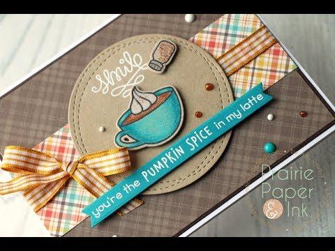 Lawn Fawn Pumpkin Spice | Prismacolor Pencils | Coffee Lovers Blog Hop