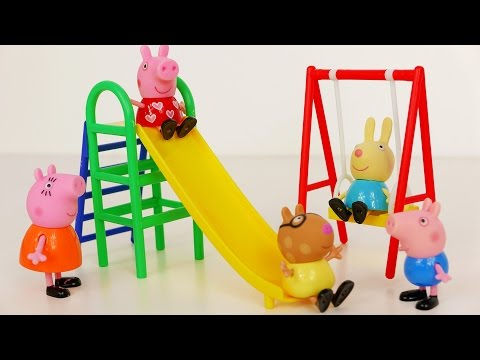 Peppa Pig Swing and Slide Playground Playset for Kids