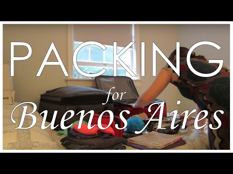 Packing for a semester in Buenos Aires, Argentina