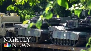 Tanks Arrive In D.C. For President Donald Trump's Fourth Of July Celebration | NBC Nightly News