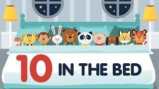 Ten in the Bed (aka Roll Over) • Nursery Rhyme with Lyrics • Animated Counting Song for Kids