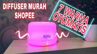 Humidifier Air Elektrik 7 Lampu Remote 300ml Diffuser Ultrasonic Purifier Alat Pembersih Pelembab Ruangan Udara Aroma Terapi