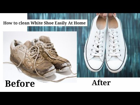 👟How To whiten/Clean White Shoe or White Sports Shoe or White Vans Instantly At Home Cleaning Hacks