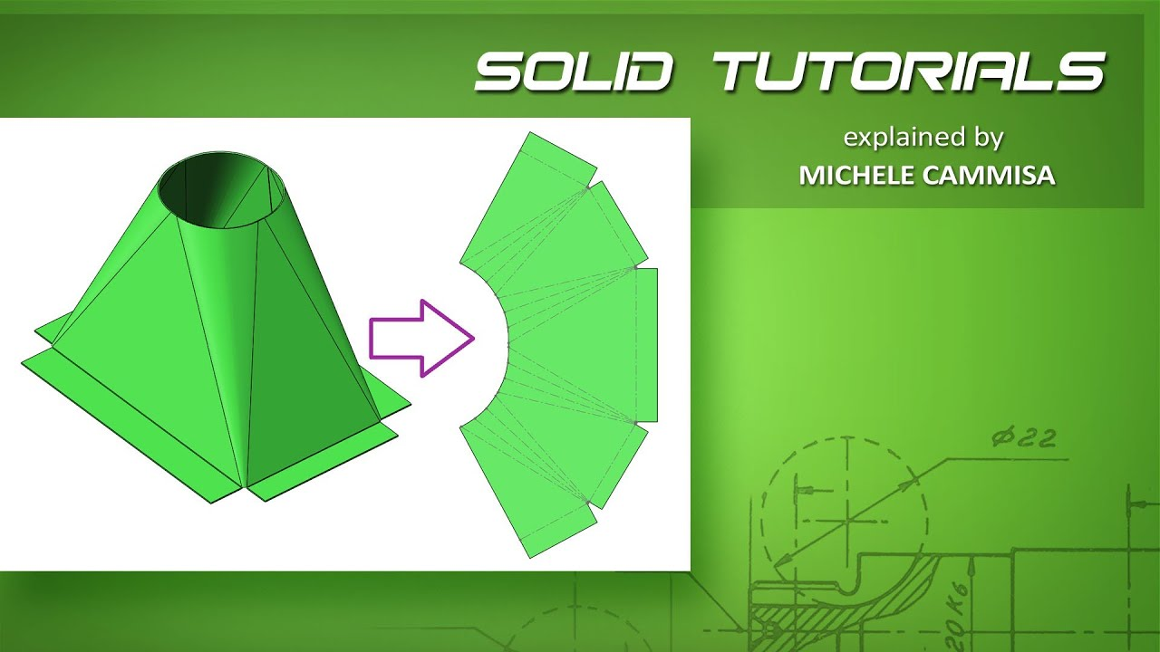 Solidworks Sheet Metal Hopper Tramoggia Youtube