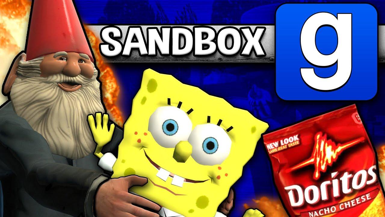 GMOD Sandbox - Teddy's Wheelchair, Rocket Fail, and More! | Comedy Gaming