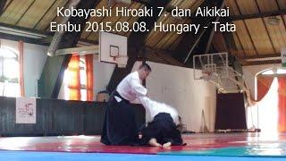 Kobayashi Hiroaki 7.  dan Aikikai - Aikido Embu - Hungary 2015.08.08.