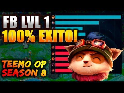 FB CON TEEMO 100% DE EXITO! DEMASIADO OP CON LAS NUEVAS RUNAS! lol   season 8   eldelabarrapan