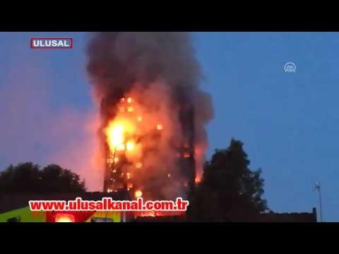 İngiltere Londra'da 27 katlı binada yangın