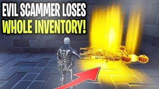 Evil Scammer Gets Scammed For Whole Inventory! (Scammer Gets Exposed) Fortnite Save The World